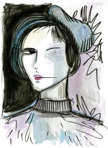 Beatnik. Ink and Watercolor. 2017.