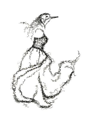 Ghost Bird. Ink. 2017.