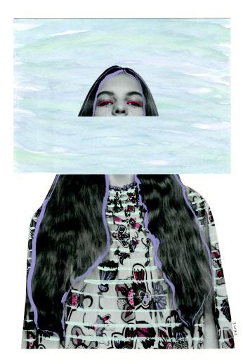 Head Above Water. Watercolor, Gouache, Paper. 2018.